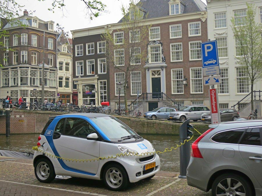 Parking your car in Amsterdam