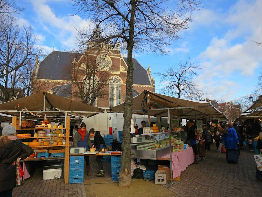Amsterdam foodmarkets and supermarkets